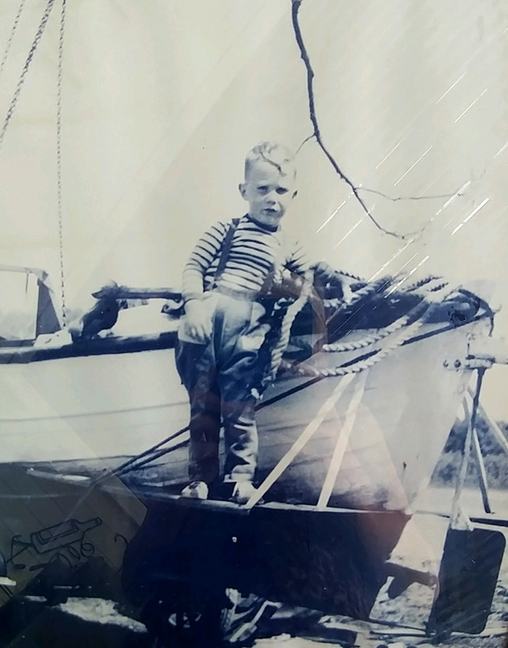 Ken as a young Harbor Master in the making.